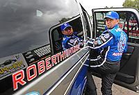 Jan 23, 2009; Chandler, AZ, USA; NHRA funny car driver Robert Hight during testing at the National Time Trials at Firebird International Raceway. Mandatory Credit: Mark J. Rebilas-
