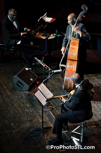 Ron Carter Trio performing at the 8th annual Greater St. Louis Jazz Festival on Apr 16, 2011.