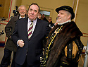 :: FIRST MINISTER ALEX SALMOND IS MET BY LORD ERKINE (BOB HOLSMAN) AS SEES THE WORK CURRENTLY BEING DONE AT STIRLING CASTLE'S ROYAL PALACE :: THE FIRST MINISTER WAS AT THE CASTLE TO ANNOUNCE DETAILS OF THE RENAISSANCE ROYAL PALACE OPENING EVENT ::