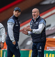 Queens Park Rangers manager Mark Warburton (right) and assistant manager John Eustace (left) <br /> <br /> Photographer David Horton/CameraSport<br /> <br /> The EFL Sky Bet Championship - Bournemouth v Queens Park Rangers - Saturday 17th October 2020 - Vitality Stadium - Bournemouth<br /> <br /> World Copyright © 2020 CameraSport. All rights reserved. 43 Linden Ave. Countesthorpe. Leicester. England. LE8 5PG - Tel: +44 (0) 116 277 4147 - admin@camerasport.com - www.camerasport.com