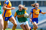 Andrea Murphy, Kerry in action against Lauren Griffin, Clare in the Lidl Ladies National Football League Division 2A Round 2 at Austin Stack Park, Tralee on Sunday.
