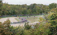 peloton at the Imola Race Circuit<br /> <br /> Men's Elite Road Race from Imola to Imola (258km)<br /> <br /> 87th UCI Road World Championships 2020 - ITT (WC)<br /> <br /> ©kramon