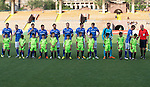 Alashkert FC v St Johnstone...02.07.15   Republican Stadium, Yerevan, Armenia....UEFA Europa League Qualifier.<br /> St Johnstone line-up before kick off<br /> Picture by Graeme Hart.<br /> Copyright Perthshire Picture Agency<br /> Tel: 01738 623350  Mobile: 07990 594431