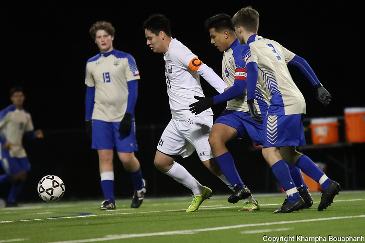 Boswell plays Chisholm Trail in high school soccer on Friday, January 31, 2020. (Photo by Khampha Bouaphanh)