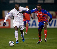 Jozy Altidore, Dennis Marshall. The USMNT tied Costa Rica, 2-2, during the FIFA World Cup Qualifier at  RFK Stadium, in Washington, DC.   With the result, the USMNT qualified for the 2010 FIFA World Cup Finals in South Africa.