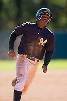 Khalil Lee (19) of Flint Hill High School in Oakton, Virginia playing for the New York Yankees scout team at the South Atlantic Border Battle at Doak Field on November 2, 2014.  (Brian Westerholt/Four Seam Images)