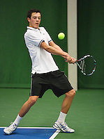 01-12-13,Netherlands, Almere,  National Tennis Center, Tennis, Winter Youth Circuit, Ruben Konings   <br /> Photo: Henk Koster