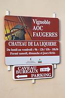 Chateau de La Liquiere Faugeres. Languedoc. France. Europe.