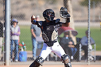 Andrew Pompa (44), from Dinuba, California, while playing for the Giants during the Under Armour Baseball Factory Recruiting Classic at Red Mountain Baseball Complex on December 29, 2017 in Mesa, Arizona. (Zachary Lucy/Four Seam Images)