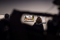 Nach zwei Jahren ohne eigene Ausstellungsraeume eroeffnet die Galerie fuer Photographie C/O Berlin am 30. Oktober 2014 am neuen Standort im Amerika Haus am Bahnhof Zoo in der Hardenbergstraße 22-24 in Berlin-Charlottenburg.<br /> Am Mittwoch den 29. Oktober 2014 gab es ein Opening fuer die Presse.<br /> 29.10.2014, Berlin<br /> Copyright: Christian-Ditsch.de<br /> [Inhaltsveraendernde Manipulation des Fotos nur nach ausdruecklicher Genehmigung des Fotografen. Vereinbarungen ueber Abtretung von Persoenlichkeitsrechten/Model Release der abgebildeten Person/Personen liegen nicht vor. NO MODEL RELEASE! Don't publish without copyright Christian-Ditsch.de, Veroeffentlichung nur mit Fotografennennung, sowie gegen Honorar, MwSt. und Beleg. Konto: I N G - D i B a, IBAN DE58500105175400192269, BIC INGDDEFFXXX, Kontakt: post@christian-ditsch.de<br /> Urhebervermerk wird gemaess Paragraph 13 UHG verlangt.]