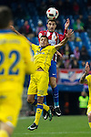 UD Las Palmas Mateo Ezequiel, Atletico de Madrid's Vrsaljko during the match of Copa del Rey between Atletico de Madrid and Las Palmas, at Vicente Calderon Stadium,  Madrid, Spain. January 10, 2017. (ALTERPHOTOS/Rodrigo Jimenez)