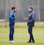 01.03.2019: Rangers training: Daniel Candeias and Steven Gerrard