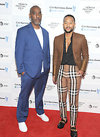 """NEW YORK, NEW YORK - June 10 : Mike Jackson and John Legend attends the 2012 Tribeca Festival World Premiere of """"""""The Legend Of The Underground"""" on June 10, 2019 at Brookfield Place in New York   City. <br /> Photo Credit: George Napolitano /MediaPunch"""