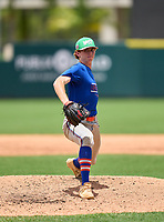 Osceola Warriors pitcher Corey Braun (10) during the 42nd Annual FACA All-Star Baseball Classic on June 6, 2021 at Joker Marchant Stadium in Lakeland, Florida.  (Mike Janes/Four Seam Images)