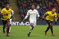 Renato Sanches of Swansea City (L-R)  in action during the Premier League match between Watford and Swansea City at the Vicarage Road, Watford, England, UK. Saturday 30 December 2017