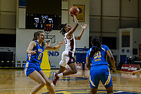 SANTA CRUZ, CA - JANUARY 22: Kiana Williams #23 goes up for a shot during the Stanford Cardinal women's basketball game vs the UCLA Bruins at Kaiser Arena on January 22, 2021 in Santa Cruz, California.