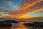A sunset seen from Kamaole Beach Park III in Kihei, Maui.