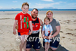Enjoying the afternoon in Ballyheigue on Sunday, l to r:  , Jeffrey, Cian and Holly Buckley and Jane Russell