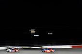 #20: Erik Jones, Joe Gibbs Racing, Toyota Camry Sport Clips Throwback and #43: Darrell Wallace Jr., Richard Petty Motorsports, Chevrolet Camaro STP