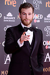 Alvaro Cervantes attends to the Red Carpet of the Goya Awards 2017 at Madrid Marriott Auditorium Hotel in Madrid, Spain. February 04, 2017. (ALTERPHOTOS/BorjaB.Hojas)
