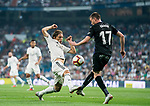 Luka Modric (L) of Real Madrid fights for the ball with Javier Eraso Goni of CD Leganes during the La Liga 2018-19 match between Real Madrid and CD Leganes at Estadio Santiago Bernabeu on September 01 2018 in Madrid, Spain. Photo by Diego Souto / Power Sport Images