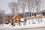Condos at Saddleback ski area in Dallas Plantation, ME, USA