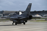 FORT LAUDERDALE FL - NOVEMBER 19: The General Dynamics F-16 Fighting Falcon is seen on the tarmac during press day for the Fort Lauderdale Air Show at the Fort Lauderdale-Hollywood International Airport on November 19, 2020 in Fort Lauderdale, Florida. Credit: mpi04/MediaPunch