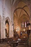 Europe/France/Midi-Pyrénées/46/Lot/Marcilhac-sur-Célé: Nef de l'ancienne  abbatiale- Partie gothique