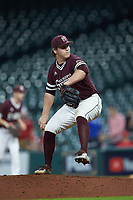 Mississippi State Bulldogs relief pitcher Cole Gordon (24) in action against the Louisiana Ragin' Cajuns in game three of the 2018 Shriners Hospitals for Children College Classic at Minute Maid Park on March 2, 2018 in Houston, Texas.  The Bulldogs defeated the Ragin' Cajuns 3-1.   (Brian Westerholt/Four Seam Images)