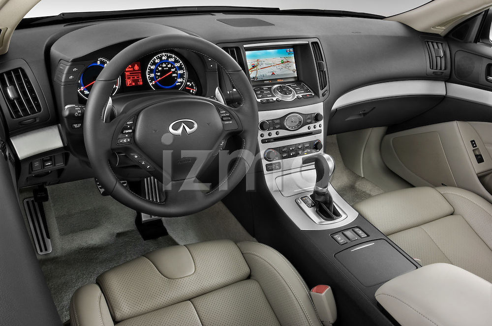 High angle dashboard view of a 2008 Infiniti G37S Coupe