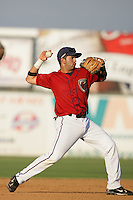 August 16 2009: Marcos Cabral of the Lancaster JetHawks during game against the Bakersfield Blaze at Clear Channel Stadium in Lancaster,CA.  Photo by Larry Goren/Four Seam Images