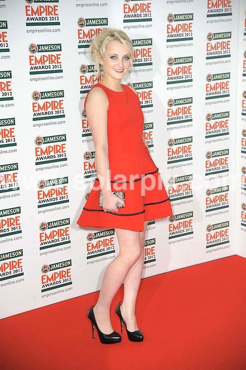 **ALL ROUND PICTURES FROM SOLARPIX.COM**                                             **WORLDWIDE SYNDICATION RIGHTS**                                                                                  Empire Film Awards at the Grovsnor House Hotel in London..This pic:   Evanna Lynch                                                               .JOB REF:   14607   MSR       DATE:   26.03.12                                                        **MUST CREDIT SOLARPIX.COM OR DOUBLE FEE WILL BE CHARGED**                                                                      **MUST AGREE FEE BEFORE ONLINE USAGE**                               **CALL US ON: +34 952 811 768 or LOW RATE FROM UK 0844 617 7637**