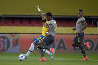 4th June 2021; Beira-Rio Stadium, Porto Alegre, Brazil; Qatar 2022 qualifiers; Brazil versus Ecuador; Gabriel Barbosa of Brazil shoots past Robert Arboleda of Ecuador