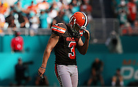 Cleveland Browns  Kicker  Cody Parkey missed three field goals for Cleveland,on the 25th September 2016 at  the Hard Rock Stadium Miami Florida