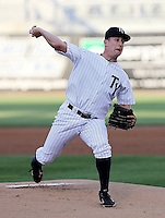 April 16, 2010: Pitcher Brandon Braboy of the Tampa Yankees delivers a pitch during a game at George M Steinbrenner Field in Tampa, FL. Tampa is the Florida State League High Class-A affiliate of the New York Yankees. Photo By Mark LoMoglio/Four Seam Images