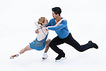 TAIPEI, TAIWAN - JANUARY 22:  Natasha Purich and Mervon Tran of Canada compete in the Pairs Short Program event during the Four Continents Figure Skating Championships on January 22, 2014 in Taipei, Taiwan.  Photo by Victor Fraile / Power Sport Images *** Local Caption *** Natasha Purich; Mervon Tran