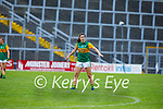 Kerry's Niamh Carmody and Aoife Cullen of Wexford tussle for possession in the Lidl LGFA National football league game in Fitzgerald Stadium Killarney on Sunday.