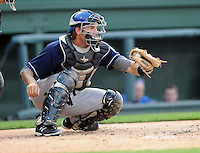 Catcher William Swanner.(23) of the Asheville Tourists, a Colorado Rockies affiliate, in a game against the Greenville Drive on May 16, 2012, at Fluor Field at the West End in Greenville, South Carolina. Asheville won, 11-6. Swanner is the Rockies' No. 21 prospect, according to Baseball America. Greenville won 5-4. (Tom Priddy/Four Seam Images)