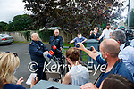 Garda Superintendent Paul Kennedy and Garda Superintendent Liam Geraghty Press Officer, at a press confrence at Lixnaw Garda station on Wednesday about suspected murder-suicide at Ballyreehan, Lixnaw.
