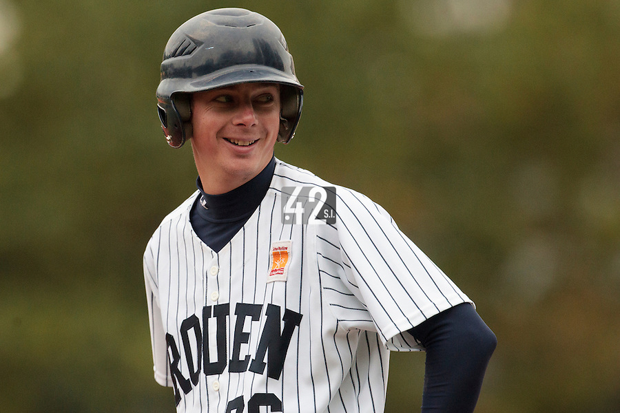 23 October 2010: Anthony Piquet of Rouen is seen during Savigny 8-7 win (in 12 innings) over Rouen, during game 3 of the French championship finals, in Rouen, France.