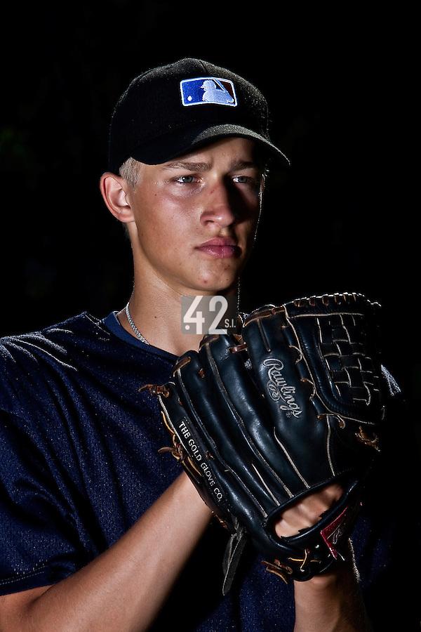 Baseball - MLB European Academy - Tirrenia (Italy) - 22/08/2009 - Dovydas Neveraskas of Lithuania (Pittsburgh Pirates)