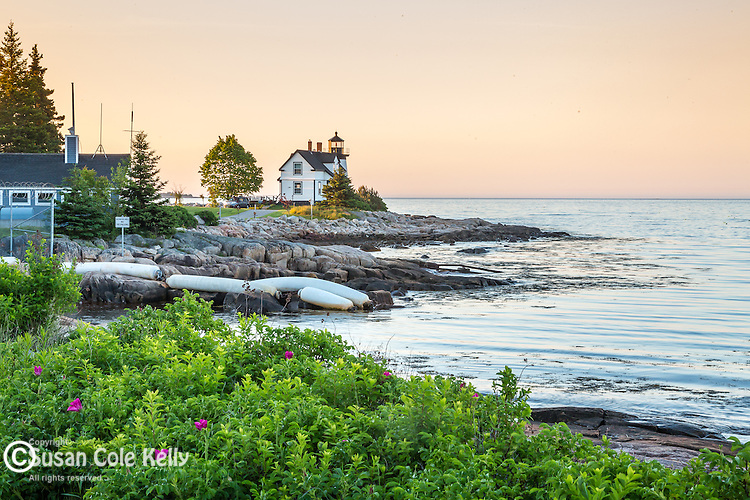 Prospect Harbor Light in Prospect Harbor, Gouldsboro, Maine, USA