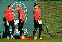 20200911 - TUBIZE , Belgium : Goalkeeper Nicky Evrard pictured during the training session of the Belgian Women's National Team, Red Flames ahead of the Women's Euro Qualifier match against Switzerland, on the 28th of November 2020 at Proximus Basecamp. PHOTO: SEVIL OKTEM   SPORTPIX.BE