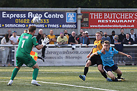 Sam Corne of Maidstone United hits the Eastbourne Borough crossbar with a fine shot during Maidstone United vs Eastbourne Borough, Vanarama National League South Football at the Gallagher Stadium on 9th October 2021