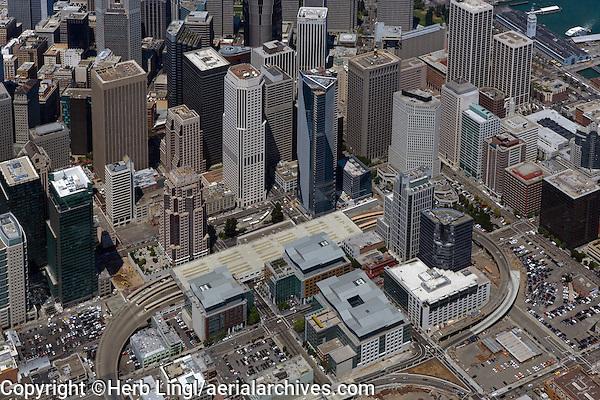 aerial photograph Millenium Tower Foundry Square, Transbay, San Francisco, California