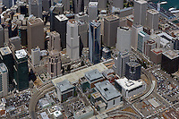 aerial photograph Millenium Tower Foundry Square, Transbay, San Francisco, California