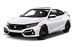 2020 Honda Civic-Si-Coupe Si 2 Door Coupe Angular Front automotive stock photos of front three quarter view