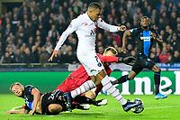 Kylian Mbappe forward of PSG scores  <br /> Bruges 22-10-2019 <br /> Club Brugge - Paris Saint Germain PSG <br /> Champions League 2019/2020<br /> Foto Panoramic / Insidefoto <br /> Italy Only