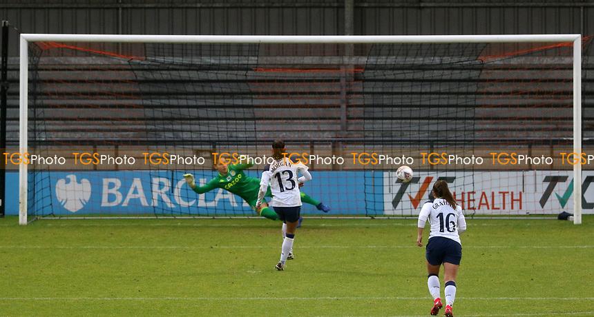 first goal scored for Tottenham Hotspur by Alex Morgan of Tottenham Hotspur from the penalty spot during Tottenham Hotspur Women vs Aston Villa Women, Barclays FA Women's Super League Football at the Hive Stadium on 13th December 2020