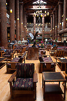 The Lobby at Glacier Park Lodge, East Glacier, Glacier National Park, Montana, US